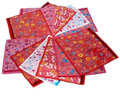 KUBER INDUSTRIES Designer Saree cover 12 Pcs Combo in Printed color MKU5055 Multicolor KUBER INDUSTRIES Garment Covers