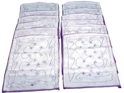 KUBER INDUSTRIES Designer Saree cover hanging 12 pcs combo MKU5073 White KUBER INDUSTRIES Garment Covers