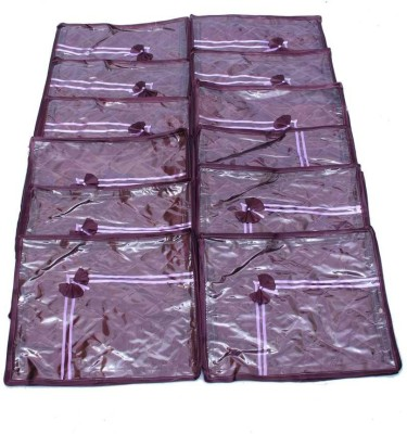 KUBER INDUSTRIES Designer Saree Cover 12 Pcs Combo In Purple Satin MKU0050045 Purple KUBER INDUSTRIES Garment Covers