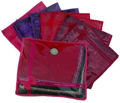 KUBER INDUSTRIES Designer Saree Cover 8 Pcs MKU603 Red, Maroon KUBER INDUSTRIES Garment Covers