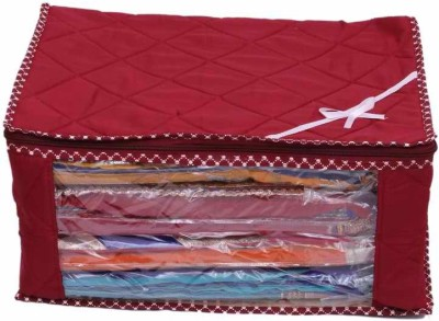 KUBER INDUSTRIES Designer Saree Cover With Capacity of 15 Sarees MKU73040 Maroon KUBER INDUSTRIES Garment Covers