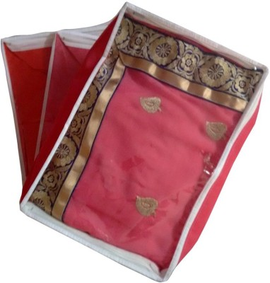 Fashion Bizz Designer Multi-Saree Cover-3 Pcs Combo(Capacity Of 15 Sarees Each) MSC-P3(Pink, White)  available at flipkart for Rs.259