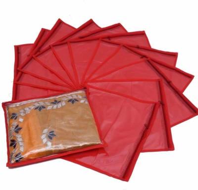 Kuber Industries Designer Single Saree Cover 12 pcs set MKU73012 Red Kuber Industries Garment Covers
