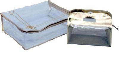 KUBER INDUSTRIES Designer Saree Cover   Vanity Box MKU5037 Gold KUBER INDUSTRIES Garment Covers