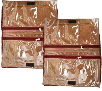 Srajanaa Golden Travel Inner Wear Organiser Travelling Accessories  Pack of 2  SR 155 Multicolor Srajanaa Garment Covers