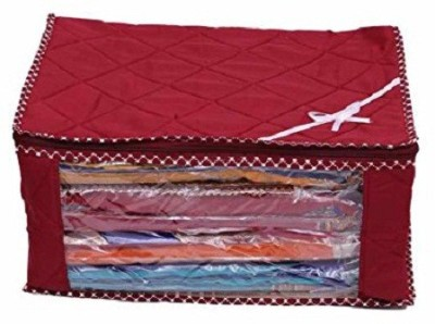 KUBER INDUSTRIES Designer Saree cover / Wardrobe Organiser / Regular Cloth bag 2 Pcs Combo In Heavy Quilted Material SC100 Red KUBER INDUSTRIES Garmen