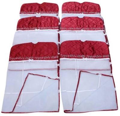 Fashion Bizz Premium Satin Hanging Saree Cover 6 Pcs Combo S 6 Maroon Fashion Bizz Garment Covers