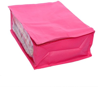 Kuber Industries Designer Non Woven Saree Cover SKU004007 Pink Kuber Industries Garment Covers