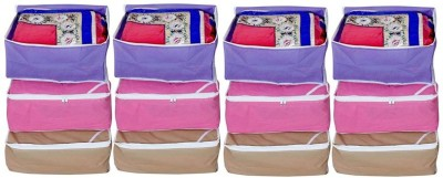 KUBER INDUSTRIES Designer Saree Cover Non Wooven Material Set Of 12 Pcs MKUSC403 Multicolor KUBER INDUSTRIES Garment Covers