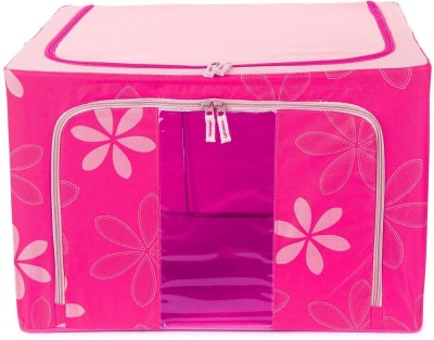Kuber Industries Designer Saree Cover /Lehenga/Woolens Storage Box with Steel Frames - Flower SKU007604(Pink)  available at flipkart for Rs.1239