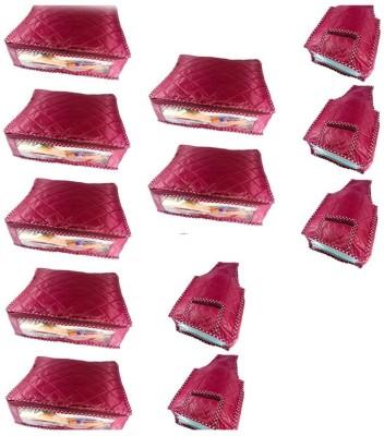 KUBER INDUSTRIES Designer Saree Cover 7 Pcs   Blouse Cover 5 Pcs MKU595 Maroon KUBER INDUSTRIES Garment Covers