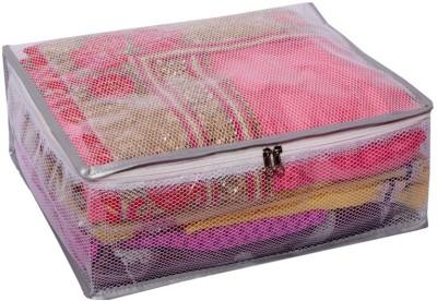 KUBER INDUSTRIES Designer Heavy Transparent Net Saree Cover MKU006649 Pink KUBER INDUSTRIES Garment Covers