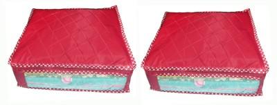 atorakushon Parachute Saree Cover 2PC PSC2 Maroon atorakushon Garment Covers