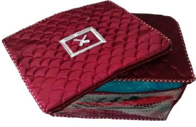 INDI BARGAIN PlainCombo of 2 Heavy Multi Saree Cover Red INDI BARGAIN Garment Covers