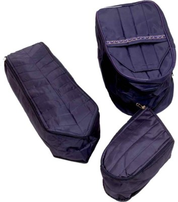 KUBER INDUSTRIES Designer Shoe Cover, Tie Cover, Socks Cover 3 Pcs Set MKUSC158 Blue KUBER INDUSTRIES Garment Covers