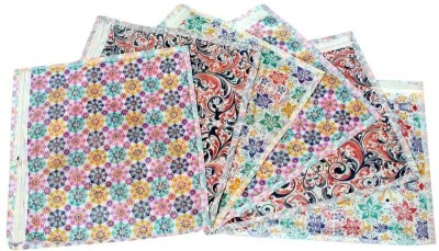 KUBER INDUSTRIES Designer Saree cover 6 Pcs Combo in Printed white color MKU5054 White KUBER INDUSTRIES Garment Covers