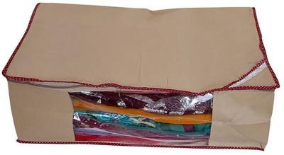 KUBER INDUSTRIES Regular Full Length Saree Cover   Upto 20 Pcs KU12 Beige KUBER INDUSTRIES Garment Covers