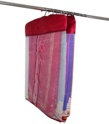Abhinidi Designer Satin Multipurpose Hanging Saree Cover 2PC HSC2 Maroon Abhinidi Garment Covers