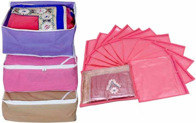 Ombags   More saree cover combo 3 and single saree cover pack of 12 bags more04 Multicolor Ombags   More Garment Covers