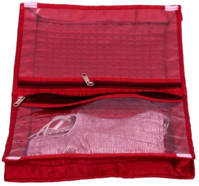 KUBER INDUSTRIES Designer Quilted Satin Lingerie Cover MKUSC135 Maroon KUBER INDUSTRIES Garment Covers