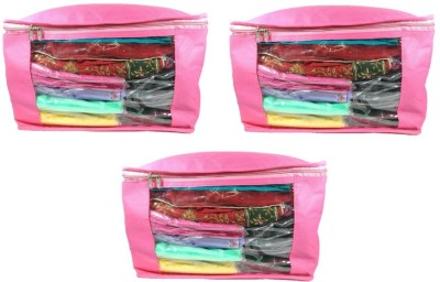 Addyz Plain 10 Inch Ladies Large Non   Woven 3saree Cover. Upto 10   15 Saree Cover each Pink Addyz Garment Covers