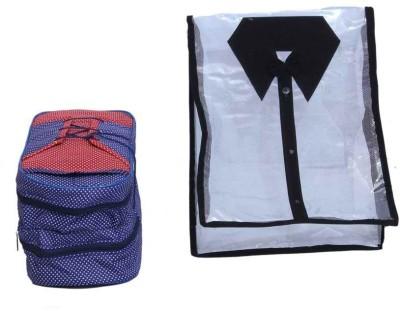 KUBER INDUSTRIES Designer Shirt Cover   Shoe bag  2 Pcs set  MKU5097 Multicolor KUBER INDUSTRIES Garment Covers