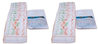 Addyz Plain Pack Of 24 White Saree Cover Wardrobe Organize White Addyz Garment Covers