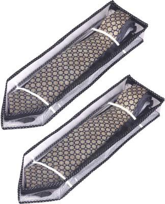 Srajanaa Silver Tie Cover Wardrope Organiser With Zip Closure  Pack of 2  SR 165 Multicolor Srajanaa Garment Covers