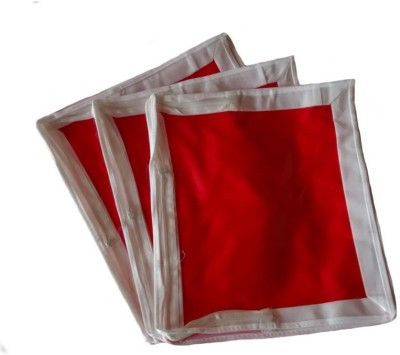 KUBER INDUSTRIES Saree Covers 3 Pcs Combo In Non Wooven MKU157 Red KUBER INDUSTRIES Garment Covers