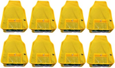 Addyz Plain 8pcs ladies Large Non   woven Blouse cover Upto 5   6 each Yellow Addyz Garment Covers