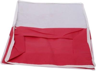 KUBER INDUSTRIES Designer Kuber IndustriesTransparent Non Woven Multi Saree Cover  10 15 Sarees Capacity  MKU00006706 Red KUBER INDUSTRIES Garment Cov