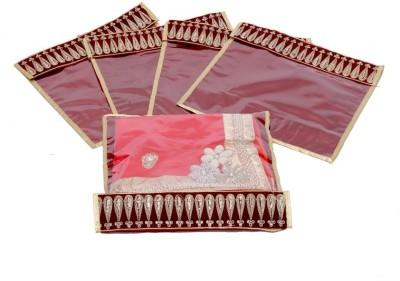 KUBER INDUSTRIES Designer Flip Saree cover Lace set of 5 Pcs MKU006631 Maroon KUBER INDUSTRIES Garment Covers