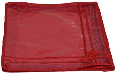 KUBER INDUSTRIES Bow Single Saree Cover KU13 Red KUBER INDUSTRIES Garment Covers