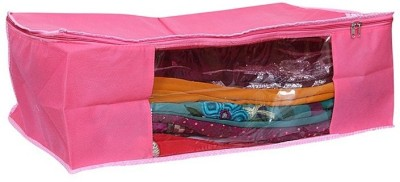 KUBER INDUSTRIES Saree Covers Full Length Net AA9 Pink KUBER INDUSTRIES Garment Covers