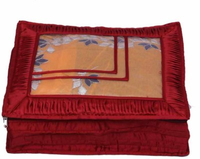 KUBER INDUSTRIES Designer Saree Cover in Satin MKU034 Maroon KUBER INDUSTRIES Garment Covers