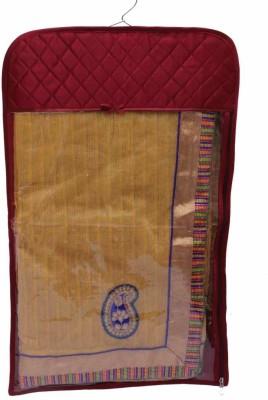 KUBER INDUSTRIES Designer Hanging Saree Cover   12pcs MKU73018 Maroon KUBER INDUSTRIES Garment Covers