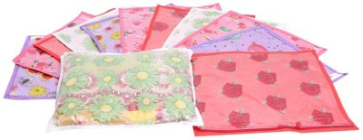 KUBER INDUSTRIES Designer Printed Non Wooven Saree Cover Set of 12 Pcs  Multi  MKU006692 Multicolor KUBER INDUSTRIES Garment Covers