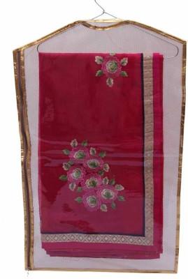KUBER INDUSTRIES Designer Hanging Saree Cover   6pcs MKU73024 Maroon KUBER INDUSTRIES Garment Covers