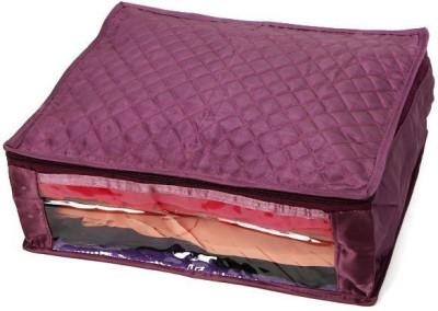 KUBER INDUSTRIES Saree Covers Satin MKU168 Purple KUBER INDUSTRIES Garment Covers