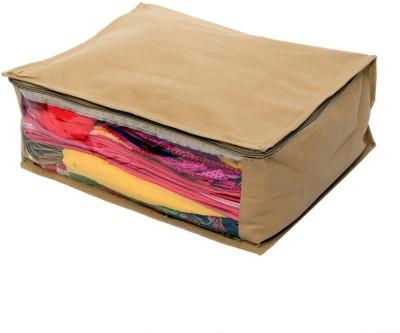 KUBER INDUSTRIES Designer Non Woven Saree Cover SKU004009 Beige KUBER INDUSTRIES Garment Covers
