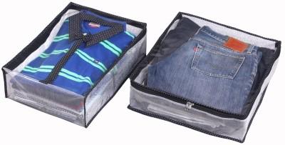 Srajanaa Shirt And Trouser Cover Combo of 2 With Zip Closure / Wardrobe Organiser SR 209 Multicolor Srajanaa Garment Covers