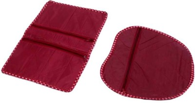 KUBER INDUSTRIES Designer Quilted Parachute Lingerie Cover 2 Pcs Set MKUSC161 Maroon KUBER INDUSTRIES Garment Covers