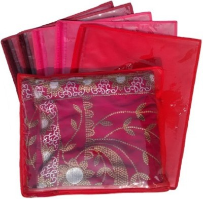 KUBER INDUSTRIES Designer Non Wooven Saree Cover Of 6 Pcs Combo MKU233 Maroon, Pink, Red KUBER INDUSTRIES Garment Covers