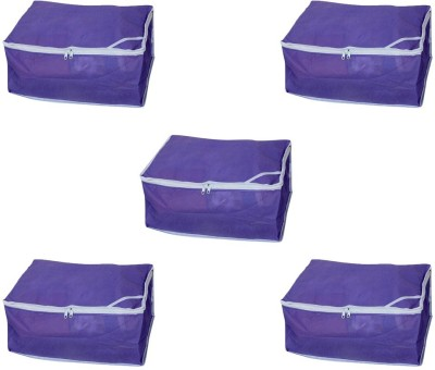 Ombags   More Non Wovan Regular Saree Cover Combo Of 5 myd01 Purple