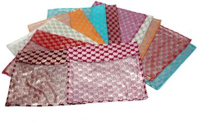 KUBER INDUSTRIES Designer Saree Cover 12 Pcs Combo In Brocade MKU5040 Multicolor KUBER INDUSTRIES Garment Covers