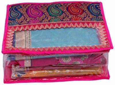 KUBER INDUSTRIES Designer Designer Saree Cover MKU004 Pink KUBER INDUSTRIES Garment Covers