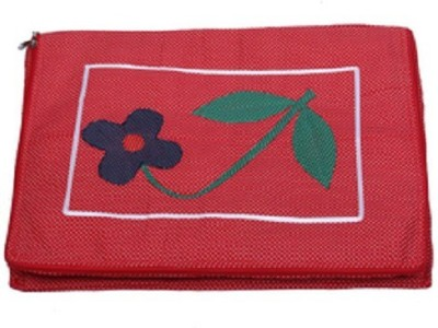 KUBER INDUSTRIES Designer Saree Cover With 12 Flaps SC13 Red KUBER INDUSTRIES Garment Covers