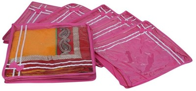 Kuber Industries Saree Covers 6 Pcs Combo AA19 Pink Kuber Industries Garment Covers