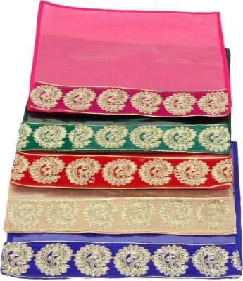 KUBER INDUSTRIES Designer Zari Border Flip Saree cover set of 5 Pcs KUBS73 Multicolor KUBER INDUSTRIES Garment Covers