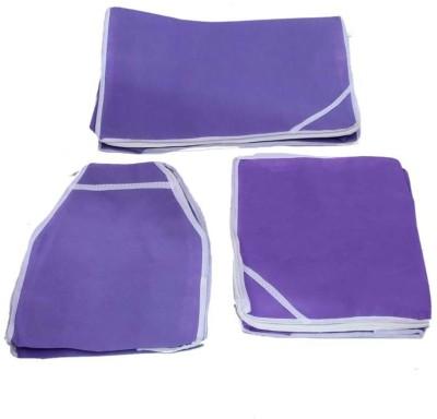 KUBER INDUSTRIES Designer Saree, Blouse   Peticot Cover 3 Pcs set MKU5081 Purple KUBER INDUSTRIES Garment Covers